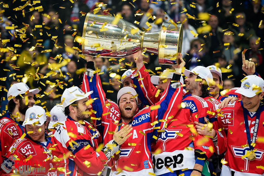 Eishockey, Swiss Ice Hockey Cup, Cupfinal EHC Kloten - Genève-Servette in der Swiss Arena Kloten. 01.02.2017 Foto: Leo Wyden